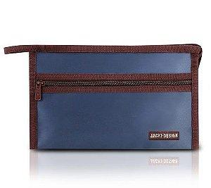 Necessaire Envelope para bolsa Essencial  Jacki Design azul