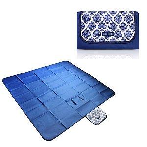 Tapete para piquenique impermeável  P Azul Jacki Design