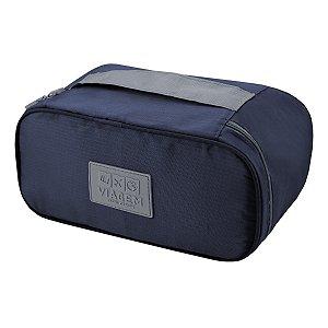 Necessaire de viagem porta Lingerie Azul Jacki Design