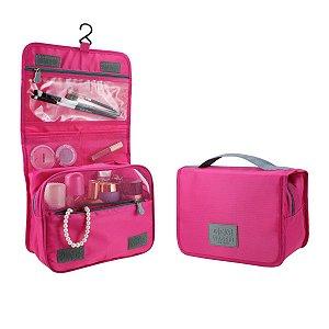 Necessaire de viagem com gancho Pink Jacki Design