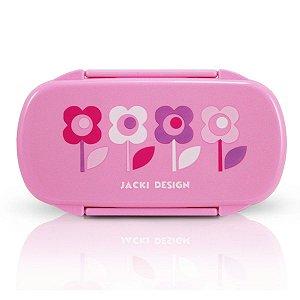 Pote para Lanche Sapeka Jacki Design Flor Rosa
