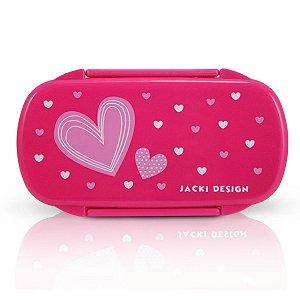 Pote para Lanche Sapeka Jacki Design Coração Rosa