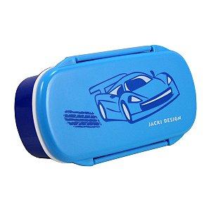 Pote para Lanche Sapeka Jacki Design Carro azul