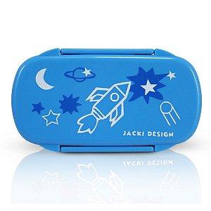 Pote para Lanche Sapeka Jacki Design Foguete Azul