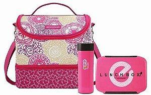 Bolsa Térmica Com Marmita e copo Jacki Design My Lolla rosa