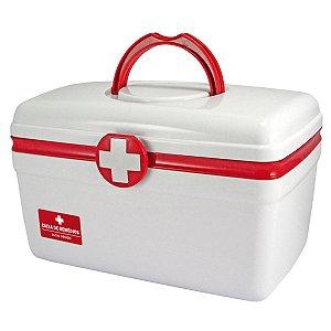 Caixa para remedios grande Primeiros socorros Vermelha