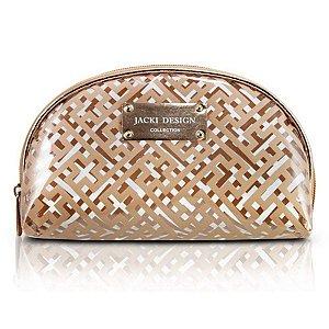 Bolsinha Necessaire Meia Lua dourado Diamantes Jacki Design