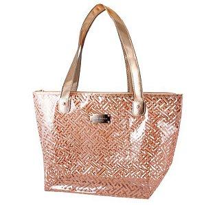 Bolsa de praia Transparente Diamantes dourado Jacki Design