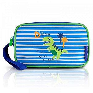Estojo Escolar Infantil Masculino dino azul Jacki Design