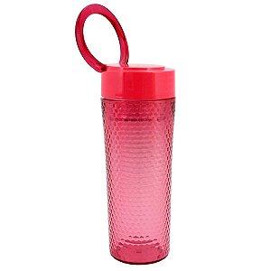 Copo Vermelho com tampa alça superior 450 ml Jacki Design