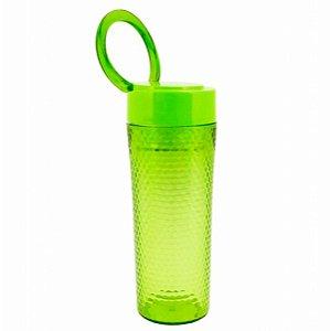 Copo Verde com tampa alça superior  450 ml Jacki Design