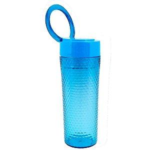 Copo Azul com tampa alça superior 450 ml Jacki Design