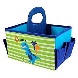 Caixa Organizadora Infantil Dinossauro Pequeninos Com Alça Jacki Design