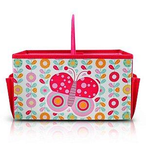 Caixa Organizadora Infantil de borboleta pequeninos com alça