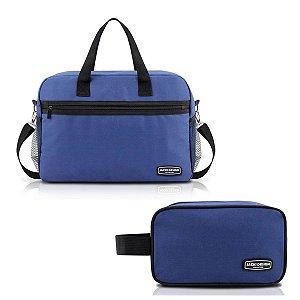 Kit Bolsa de bordo com necessaire Jacki Design Azul