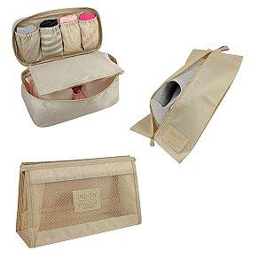 Kit Organizadores de Malas Jacki Design Bege