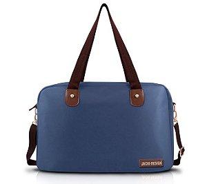Bolsa Academia Viagem com Alça Ajustável Jacki Design Azul