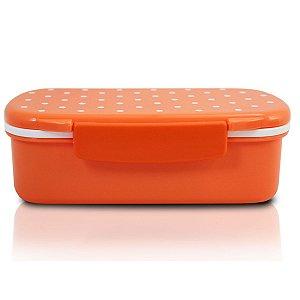 Marmita lancheira 450 ml com divisória laranja Jacki Design