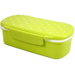 Marmita lancheira 450 ml com divisória verde Jacki Design