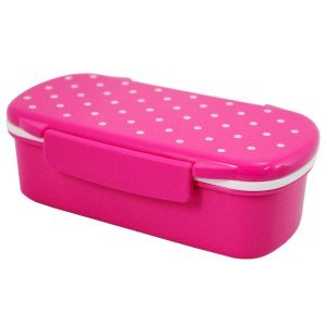 Marmita lancheira 450 ml com divisória Pink Jacki Design