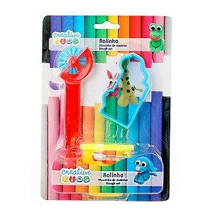Massinha de Modelar com Carretilha Creative Kids 3 Peças