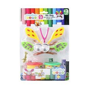 Massinha de Modelar Mr. Bug com Asas 9 Peças Batiki