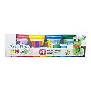 Massinhas de Modelar Creative Kids 4 Potes coloridas Batiki