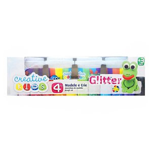 Massinhas de Modelar com Gliter Creative Kids 4 Potes Batiki