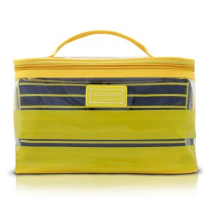 Kit com 2 Necessaires Listras amarelas Felicita Jacki Design