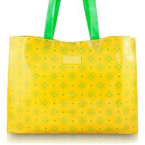 Bolsa Sacola Praia G Vinil Envernizado amarelo Jacki Design