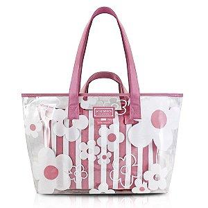 Kit De Bolsa Com 2 Peças de praia Bem me quer rosa