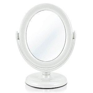 Espelho Mesa Dupla Face pequeno Make Branco Jacki Design