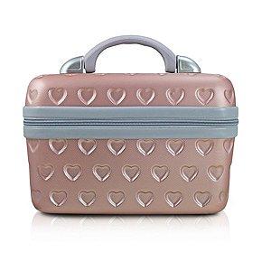 Frasqueira Love rosa Jacki Design Ideal para Maquiagem