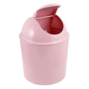Lixeira pequena para Quarto ou Banheiro rosa Jacki Design