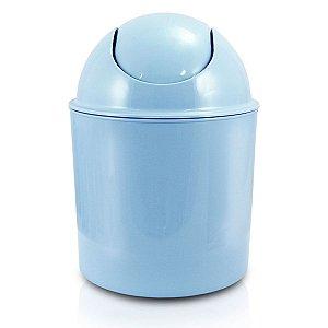 Lixeira pequena para Quarto ou Banheiro azul Jacki Design