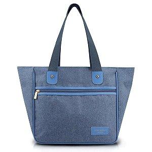 Bolsa feminina Casual Com Alça de ombro azul Be You