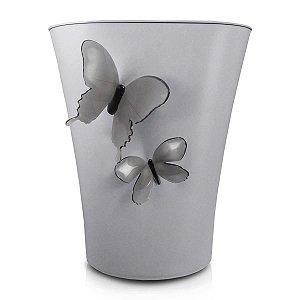 Mini cesto de Lixo Cozy Cinza Borboleta 3D Jacki Design