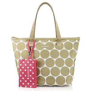 Bolsa Casual Dots com niqueleira bege Jacki Design