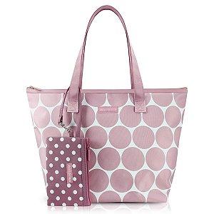 Bolsa Casual Dots com niqueleira Rosa Jacki Design