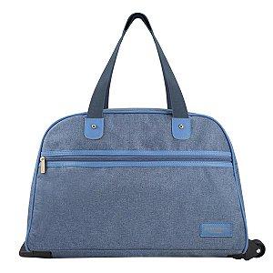 Bolsa de Viagem com Rodas e alça de mão e ombro BeYou Azul