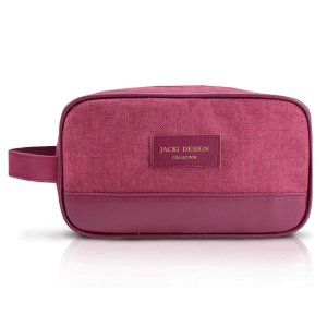 Necessaire Com Alça Lateral Vinho Be You Jacki Design