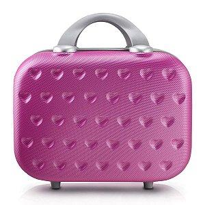 Frasqueira Abs corações Love alça carona Pink Jacki Design