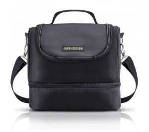 Bolsa lancheira escolar Térmica preta Fitness Jacki design