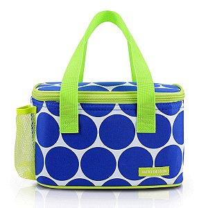 Bolsa Térmica Dots Fitness Azul Em Poliéster Jacki Design