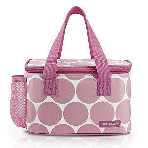 Bolsa Térmica Dots Fitness Rosa Em Poliéster Jacki Design