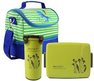 Lancheira Infantil Térmica dino Copo-pote verd Jacki Design