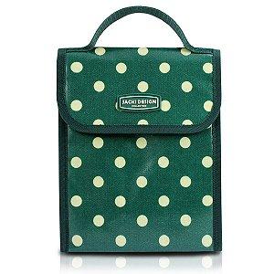 Bolsa Térmica look Bolinha verde com velcro Jacki Design