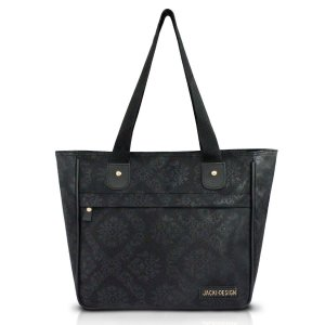 Bolsa Shopper Damasco Preto Jacki Design