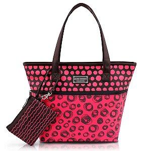 Bolsa Feminina Casual Niqueleira Pop vermelho Jacki Design