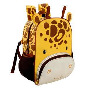 Mochilinha Infantil Escolar Mini Zoo Girafinha Colorizi